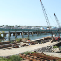 Veterans Bridge Dismantling in South Portland